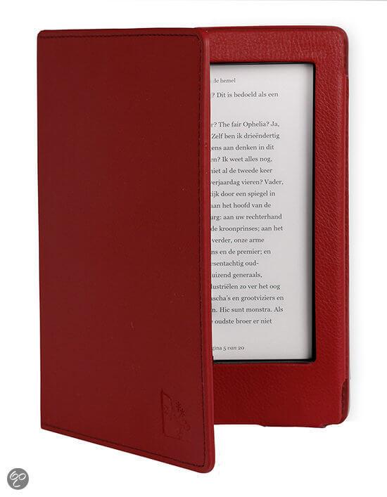 kobo aura h2o cover - gecko luxe - rood